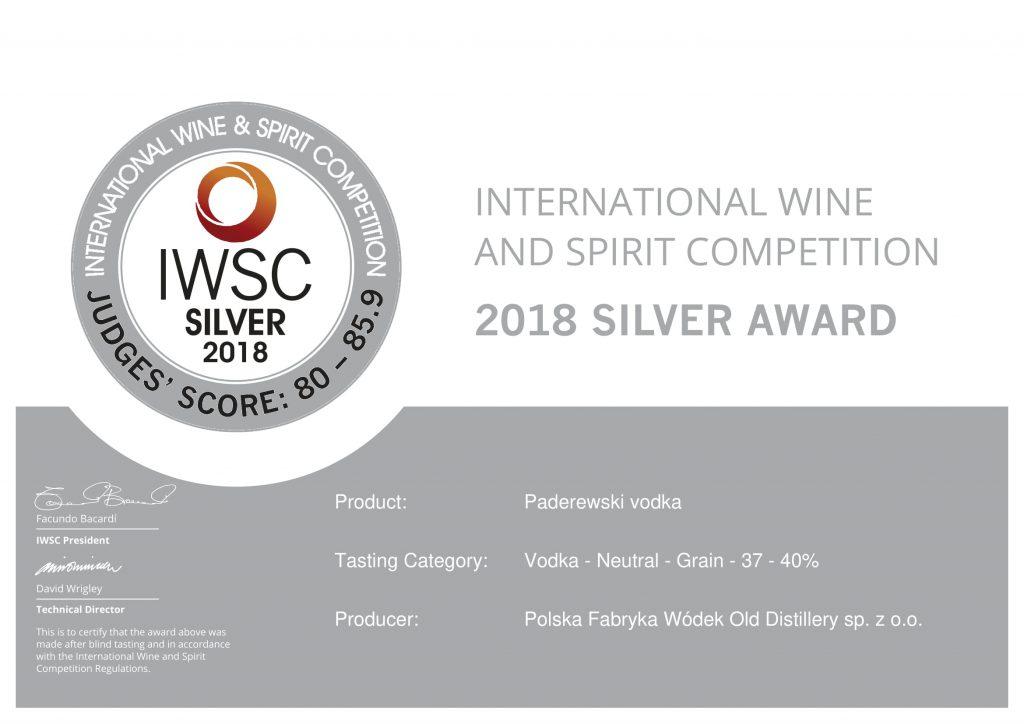 2018 silver certificate PADEREWSKI 1